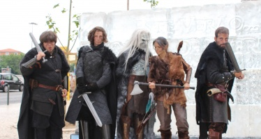 White Walkers e Jon Snow em Portugal