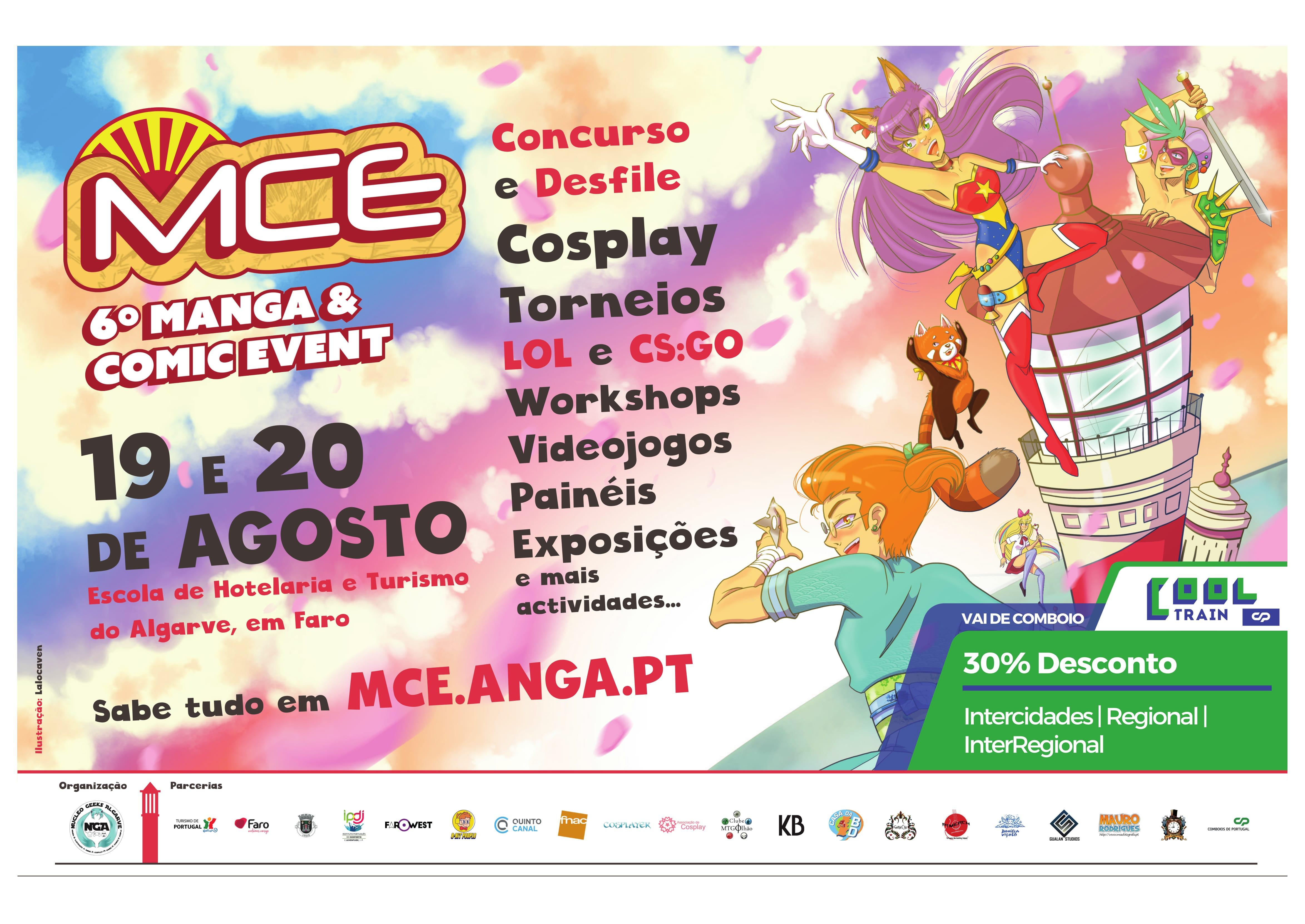 A 6ª Edição do Manga and Comic Event realiza-se na Escola Superior de Hotelaria e Turismo de Faro