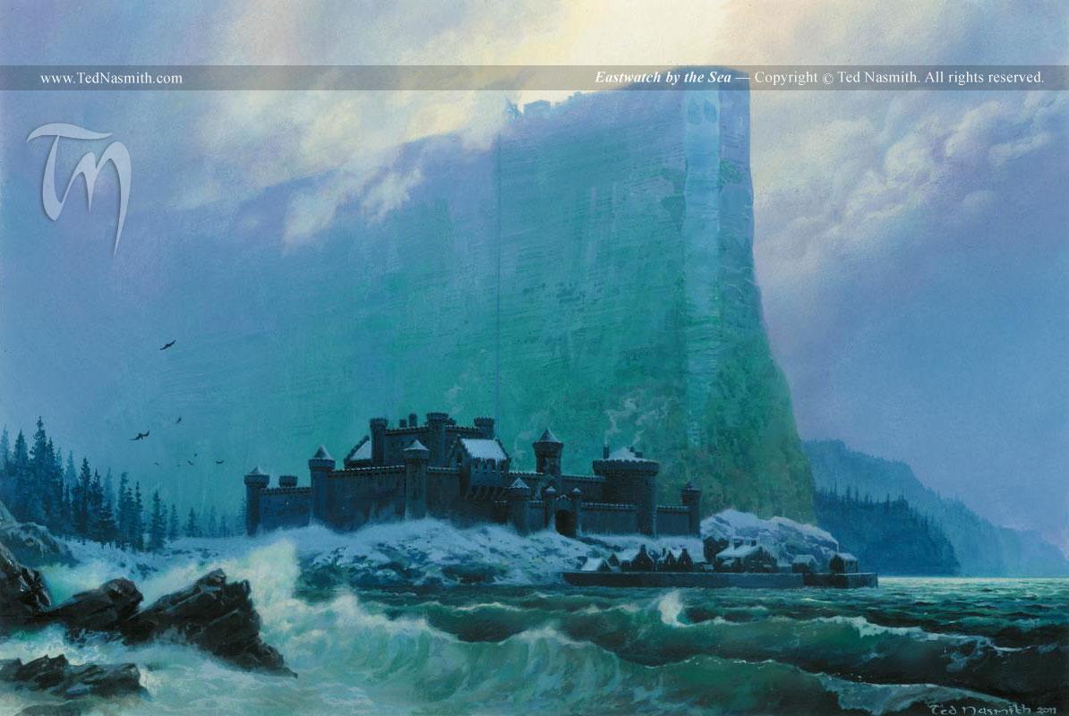O castelo de Eastwatch - Imagem de Ted Nasmith