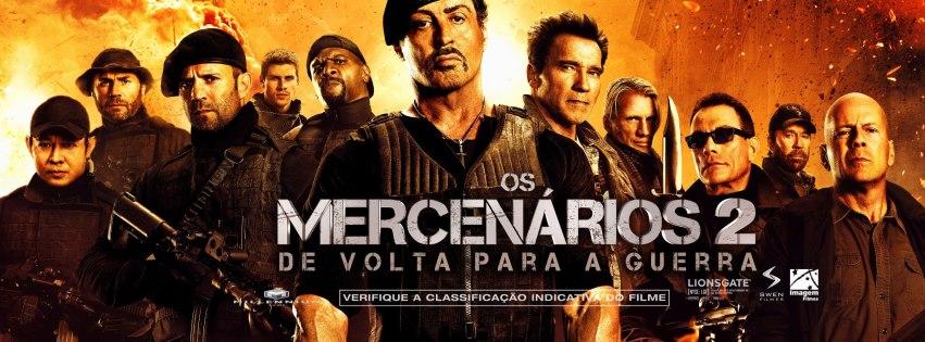 Os Mercenários 2 - Stallone e companhia (de luxo) limitada entram em cena às 21h30, no Hollywood. O filme passa outra vez, na terça, às 13h40.