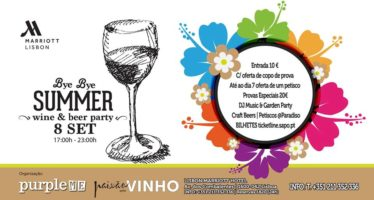 Bye Bye Summer Wine & Beer Party é já na próxima semana