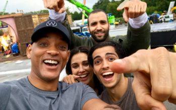 A primeira foto de grupo do primeiro filme live action de Aladdin